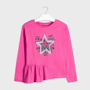 Camiseta m-l estrella glitter ORQUIDEA – MAYORAL