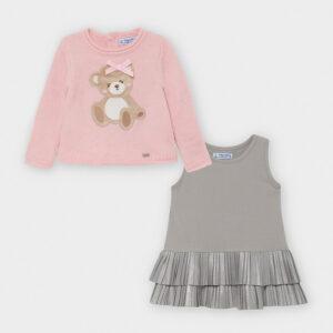 Vestido tricot oso ROSA – MAYORAL