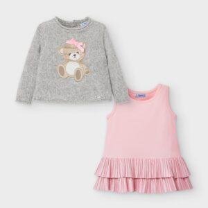 Vestido tricot oso GRIS – MAYORAL