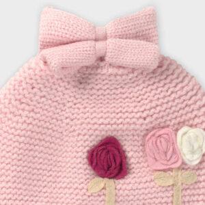 Conj. gorro bufanda flores ROSA – MAYORAL