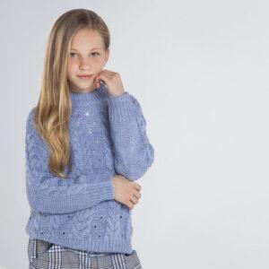 Jersey tricot trenzas LAVANDA – MAYORAL