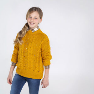 Jersey tricot trenzas MOSTAZA – MAYORAL
