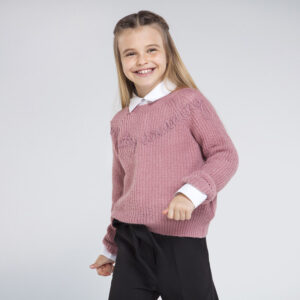 Jersey tricot letras ROSA – MAYORAL