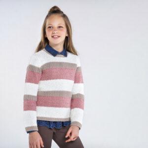 Jersey tricot rayas CRUDO – MAYORAL