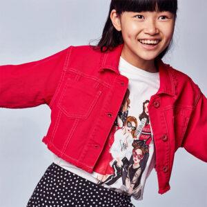Camiseta m-c niñas broches BLANCO – MAYORAL